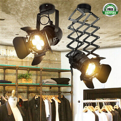 Leds For Clothing (Retro Industrial LED Ceiling Light Stretch Light Indoor LED Lamp for Cloth)
