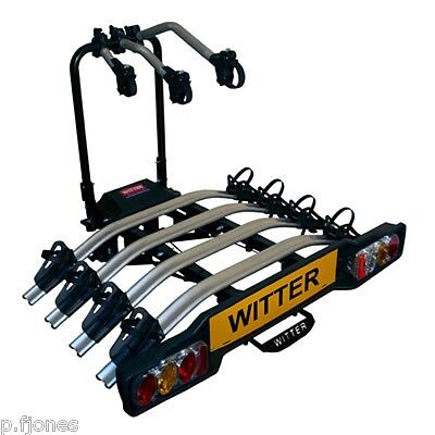 Witter ZX404 Flange Towbar Mounted Tilting 4 Bike / Four Cycle Carrier