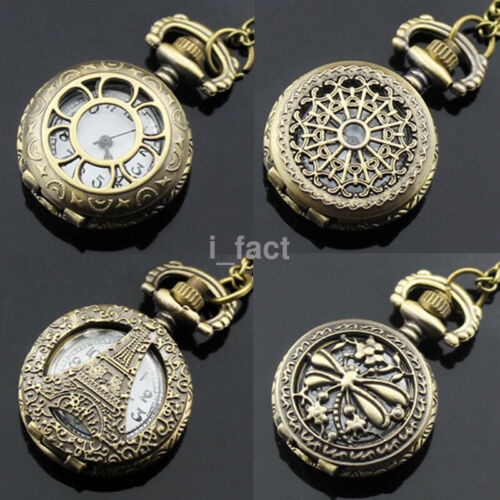 Fashion Charm Jewelry Pocket Watch Special Pendant Necklace 30inch Chain US