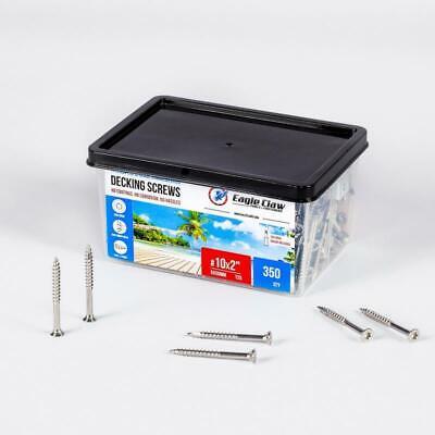 Stainless Steel Deck Screws 10 X 2 Star Drive T25 Torx Qty 350 - 3lb