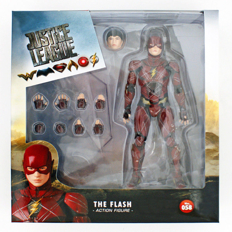 Mafex 058 DC Comics Justice League The Flash PVC Action Figure Toy Box Packed
