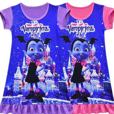 Vampirina Dress Kids Girls Fancy Dress T Shirt Nightwear Pyjamas Nightdress Top - Fancy Girls Top