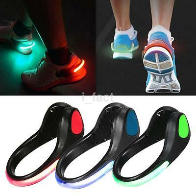 LED Light Arm Ankle Shoe Clip Cycling Walking Running Outdoor Sports Safety