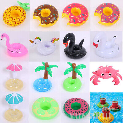 Inflatable Floats Drink Cup Holder Summer Swimming Pool Beverage Boat Party Gift