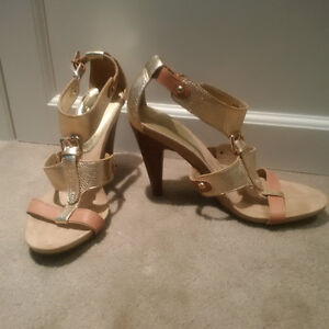 Nine West Gold Strappy Sandals