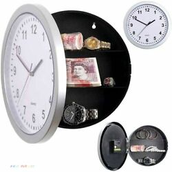 Wall Clock Creative Hidden Secret Storage Office Security Safe Home Decorations