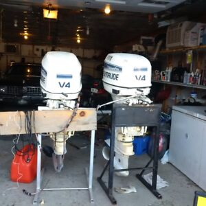 Twin 115HP Evinrude Outboards