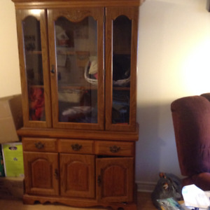 Wooden Dining Room Hutch