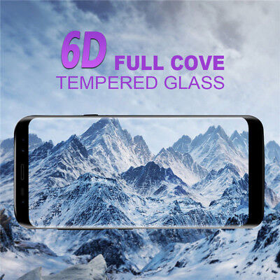 6D Screen Protector For Samsung Galaxy S8 S9 Plus Note 9 Best 9H Tempered (Best Glass Screen Protector For Note 8)