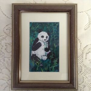 PAINTING:  BETTY KOVACIC ORIGINAL - PANDAS Prince George British Columbia image 2