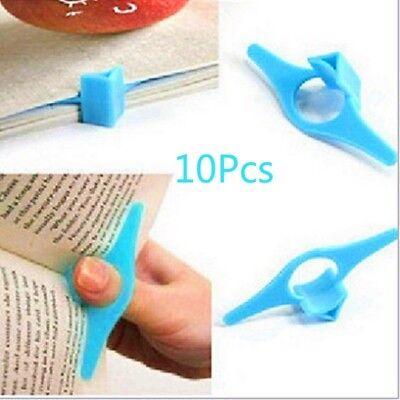 10pcs Multi-function Plastic Thumb Book Marker Page Holder Bookmark Tops YA9