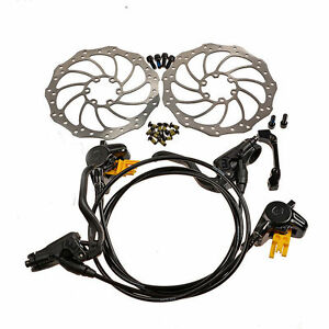 MAGURA MT2 Hydraulic Brake Set Front & Rear Black with Storm 160mm Rotors Black