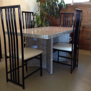 Unique Dining Room Table & Six Chairs