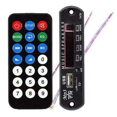 Black SD MP3 Player ZTV-M011 Remote Controller Module FM USB 2.0 3.5mm out jack