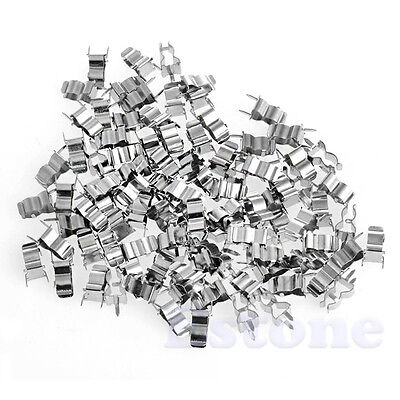 New 100 Pieces 5x20mm Glass Tube Quick Fast Blow Fuse Clips Holder Hot