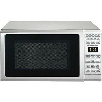 NEW Hamilton Beach 0.7-cu ft Microwave Oven White Countertop Kitchen Digital