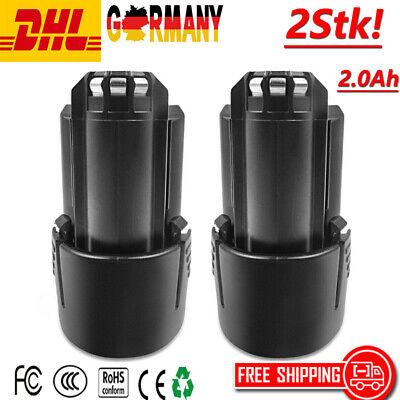 2X 2.0Ah 10.8V Li-Ion Batterie AKKU für BOSCH BAT411 BAT411A BAT412A GSC GOS GM gebraucht kaufen  Deutschland