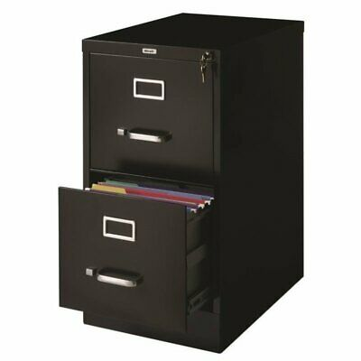 Hirsh 22 In Deep 2 Drawer Vertical Letter File Cabinet In Black