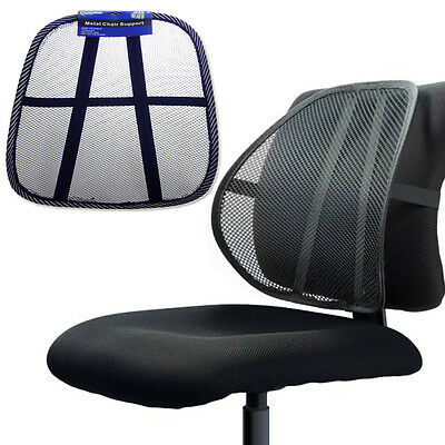 Mesh Back Lumbar Cushion Support Fit Car Seats Office Home Chairs Portable Ad-63