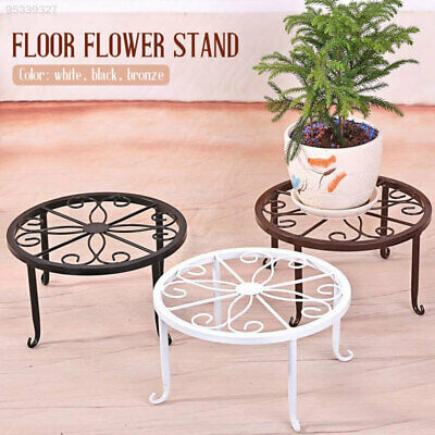 Outdoor Indoor Patio (4 Holder Metal Plant Pot Stand Flower Display Shelf Garden Patio Outdoor Indoor)
