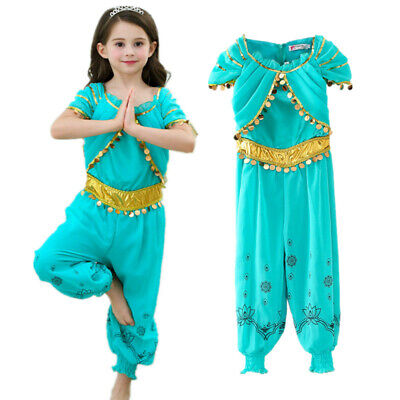 Girls' Jasmine clothing set for kids cosplay Costume Halloween Indian Princess