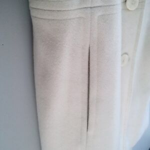ANNE KLEIN IVORY WOOL FALL/WINTER PEA COAT - Excellent Condition Kitchener / Waterloo Kitchener Area image 3