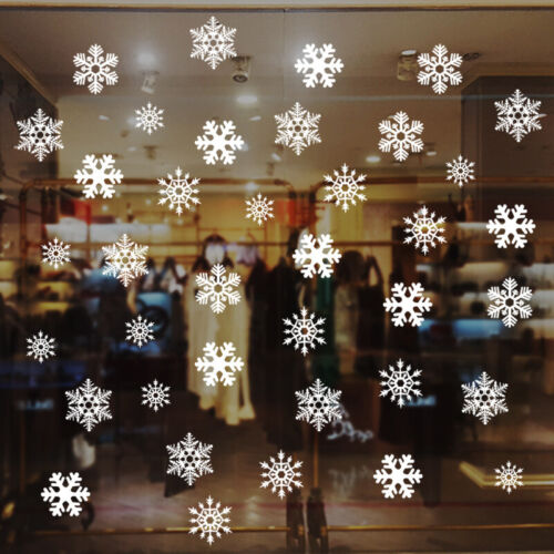 Home Decoration - Removable Christmas Window Stickers Vinyl Decals Snowflake Wall Home Decoration