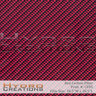 Hydrographic Film Hydro Dipping Water Transfer Red Carbon Fiber 38.5 X 38.5