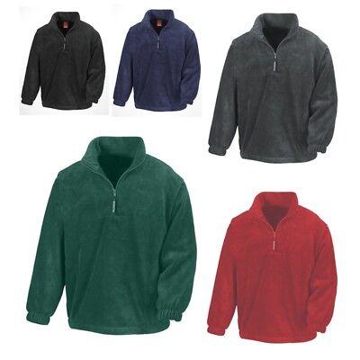 Herren Half Zip Top (Result Herren Fleecepullover POLARTHERM TOP Pullover Half-Zip Neu R033X)