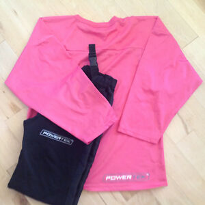 Girls ringette pants and practise jersey