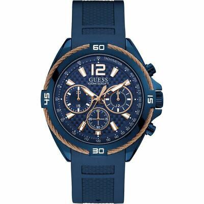 Guess Mens W1168G4 Surge Chronograph Blue Resin Strap Wrist Watch