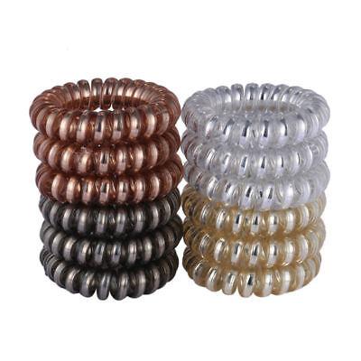 12PCS Rubber Telephone Wire Hair Ties Spiral Slinky Hair Head Elastic Bands - Slinky Hair Ties