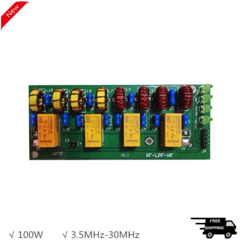 3.5MHz-30MHz HF Low Pass Filter LPF Kit 100W 12V For Shortwave Radios