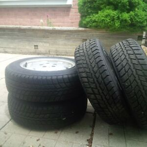 Mercedes Snow Tires on alloy Rims Like new