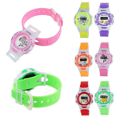 Colorful Boys Girls Students Time Electronic Digital Sport Wrist Watch Wholesale