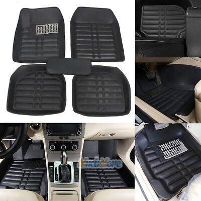 US 5pc Universal Car Floor Mats FloorLiner Front  Rear Carpet All Weather Black