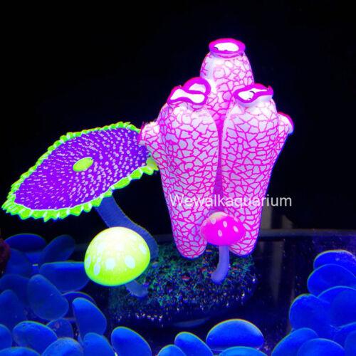 Aquarium Accessories Fish Tank Decorations Fluorescent Sea Squirt Coral Ornament