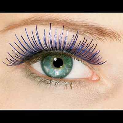 Blue False Eyelashes Tinsel Halloween Costume Fashion Rockstar Fake Eye Lashes (Fake Halloween Eyelashes)