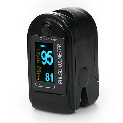 USA SHIPPING OLED Oximeter Pulse finger Tip Monitor Blood Oxygen SpO2 50D + CASE