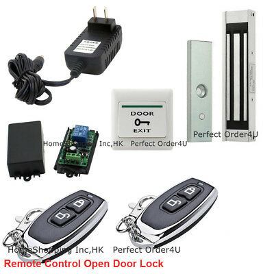Door Access Control System +Electric Magnetic Lock+2pcs Wireless Remote Controls