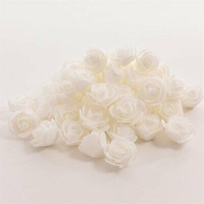 50PCS Artificial Silk Bulk Flowers Fake Rose Heads Wedding Bouquet Home Decor