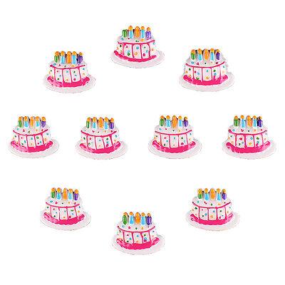 10pcs Resin Birthday Cake Flatback Scrapbooking Frame Party Card ...