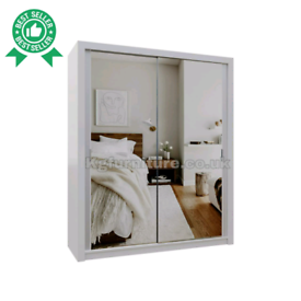 High Rated Quality New Flat Pack Sliding Mirror Door Wardrobes Availab