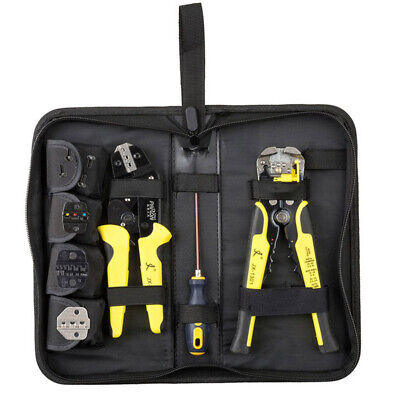 4 In 1 Wire Crimpers Terminal Crimping Pliers Cord End Terminals Tool Kit Set Us