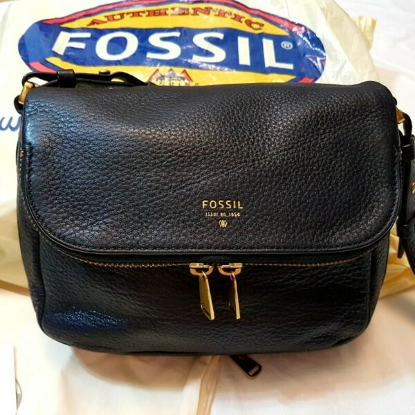 S$219.99 - FOSSIL PRESTON FLAP CROSS BODY LEATHER  BAG