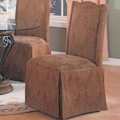 $198.58 - Coaster Home Furnishings Brown Parson Chair-Set Of 2 190042 CHAIR NEW