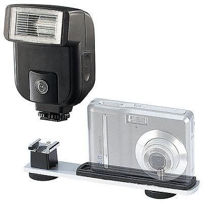 Blitzlicht: Profi-Blitz-Paket mit Foto-Blitzgerät und Blitzschiene (Kamerablitz)
