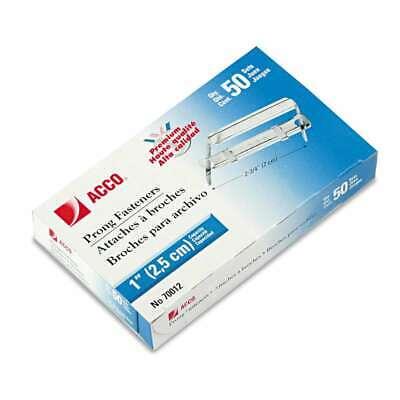 Acco Premium Two-piece Paper File Fasteners 1 Capacity 2 34 050505700127