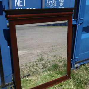 Solid Wood Mirror - $70