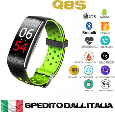 Q8S SMARTWATCH OROLOGIO CARDIOFREQUENZIMETRO TRACKER FITNESS SPORT ANDROID iOS